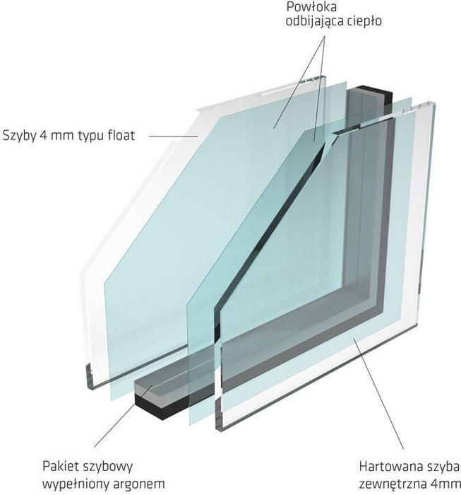 RoofLite Okno dachowe Slim Pine 66x118 DPYF6A