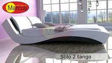 Marcus meble NOWOŚĆ - Łóżko sypialniane Tango -Skóra naturalna