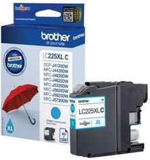 Brother Eksploatacja LC225XL-C Oryginalny kartridż z atramentem Cyan do 1200 stron kopia LC225XL-C