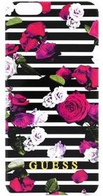 Guess Etui Spring TPU Case Stripes/Roses do Apple iPhone 6 Wielobarwny