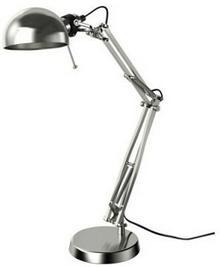 IKEA Lampa biurkowa, niklowana powłoka 801.467.63