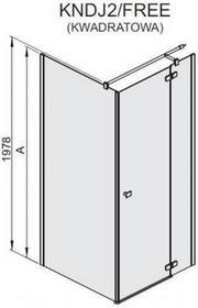 Sanplast Free Line 90 KNDJ2/FREE-90 90x90 profil srebrny błyszczący szkło W0 600-260-0610-42-401