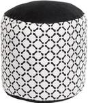 Home Styling Collection Pufa bawełniana BLACK & WHITE siedzisko podnóżek 45 x 30 cm