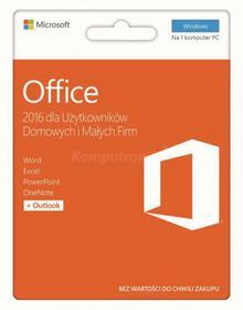 Microsoft Office 2016 dla Użytkowników Domowych i Małych Firm (BOX)