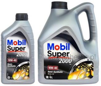 MobilSuper 2000 X1 10W40 4L+1L