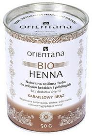 Orientana Bio henna do karmelowy brąz 50g