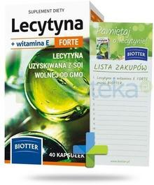 DIAGNOSIS S.A. Lecytyna + witamina E Forte 40 kapsułek + notes na magnes 3025262