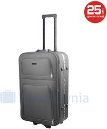PELLUCCI Mała kabinowa walizka PELLUCCI BUDAPEST RYANAIR S Szara - szary