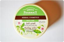 Green Pharmacy Solny peeling do ciała drzewo herbaciane i zielona glinka 300ml