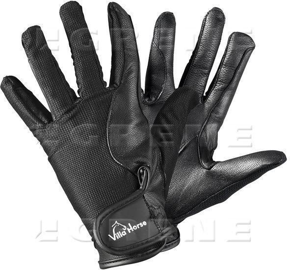 a6b24dddd303e0 Villa Horse Rękawiczki Elegance skórzane czarne, roz. M 1687-VH3401-60-