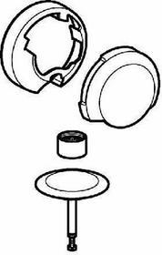Geberit 150.425.21.1  DELTA zestaw wykończeniowy syfonu wannowego do bat.podtynkowej, chrom błys