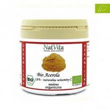 NatVita Acerola 18% BIO witamina C z wiśni aceroli Brazylia 50 g