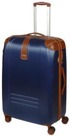 Dielle Walizka duża na 4 kółkach 155 155-70 Blue Zamek szyfrowy TSA 4 kółka - obrotowe 360°