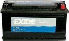 Exide Classic 90Ah 720A EC900 P+