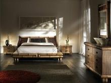 Bortoli Komplet sypialniany z bambusa TSU z wezgłowiem Surya (Łóżko 140, szafka