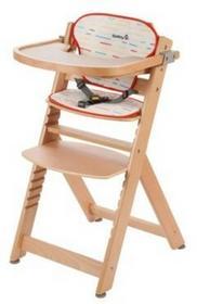 Safety First Krzesełko Timba z wkładką Red Lines/Natural Wood