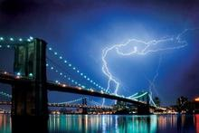 Brooklyn Bridge (New York, Lightning) - plakat