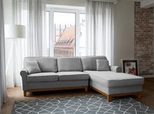 Beliani Narożnik jasnoszary - kanapa - sofa - narożna - wypoczynek - NEXO jasny szary