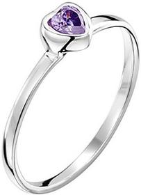 Jo for Girls Solitär-Ring Sterling-Silber 925 Zirkonia Violett