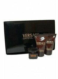Versace Crystal Noir woda toaletowa 5 ml + mleczko do ciała 25 ml + żel pod prys