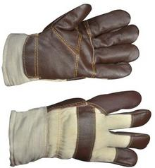 OPP Rękawica skórzana  ocieplana z kożuszkiem
