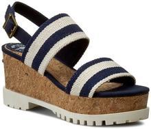 Pepe Jeans Sandały - Katherine Double Strap PLS90165 Sailor 580 materiał