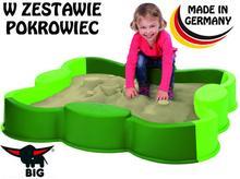 Big piaskownica Modułowa Vario z Przykryciem Duża Zielona 56722
