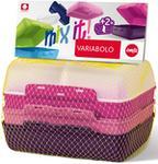 Emsa 2 częściowy zestaw pudełek kanapkowych dla dziewczynek Variabolo 517052