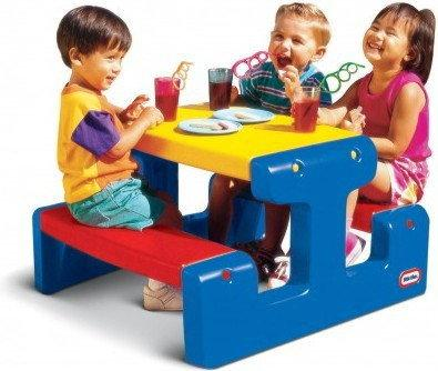Little Tikes Stolik Junior Picnic Table - Primary