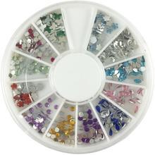Zestaw kolorowych cyrkonii i kryształków do zdobienia paznokci
