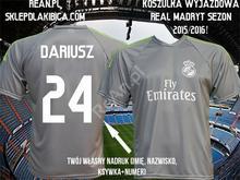 Real T-shirt WYJAZDOWA MADRYT Z TWOIM WŁASNYM NADRUKIEM SEZON 2015/2016!