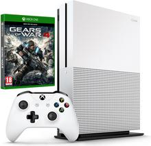 Microsoft Xbox One S 1 TB Biały + Gears of War 4 + Rise of The Tomb Raider
