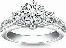Richard Cannon (USA) 00749 Pierścionek z brylantem 0,50 ct, białe złoto 14K