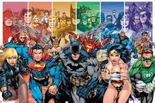 DC Comics Liga Sprawiedliwych Bohaterowie - Plakat