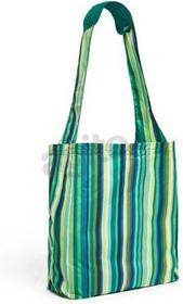 Built Reusable Shopper Torba na zakupy zakupowa z etui Emerald Stripe