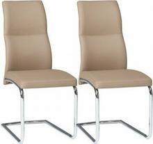 Forte Krzesła tapicerowane Jump KR0079-MET-DCP (komplet 2 szt.)