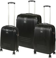 Dielle Komplet walizek na 4 kółkach 155 SET/155-55/60/70 black