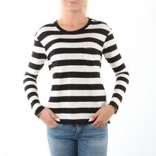 "Levis Long-Sleeve Perfect Pocket Tee """"Striped Black/White"""""