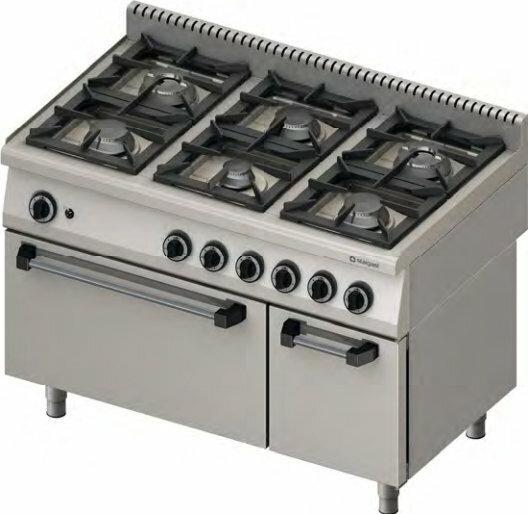 Stalgast Kuchnia z piekarnikiem elektrycznym 971713 6-palników (3,5+3x5+2x7)