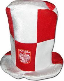 Czapka Polska Dla Kibica Cylinder KRATKA