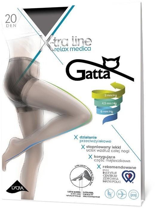 Medica Rajstopy - Gatta - Rajstopy X-tra Line Relax 20 den czarny Relax.20