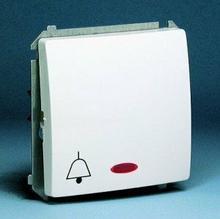 Kontakt Simon - Basic Moduł - Łącznik dzwonkowy z podświetleniem biały BMD1L.01/
