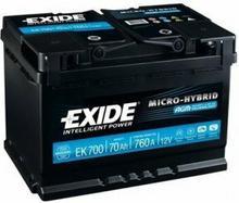 Exide MICRO-HYBRID AGM EK700 - 70Ah 760A P+