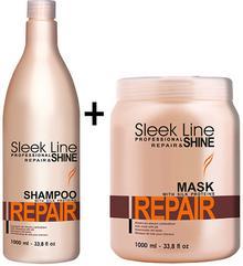 Sleek Line Stapiz Repair Zestaw Szampon 1000 ml + Maska 1000 ml