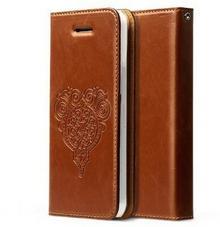 Zenus Retro z Diary Case/brązowy futerał do Apple iPhone 5 °C