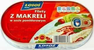 Łosoś Filety z makreli w sosie pomidorowym 175g ŁOSOŚ