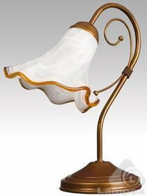 Lampex IBIZA 056/LM Czarny+ZŁOTO - Lampa stołowa