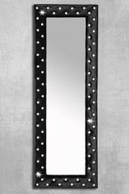 I & I I & I Boutique Lustro Czarne Tkanina Aksamit z Kryształami 170x60cm - i178