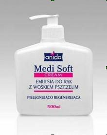 Scan Anida SP. Z O.O. MEDI SOFT emulsja DO dłonie Z WOSKIEM PSZCZELIM 500 ML