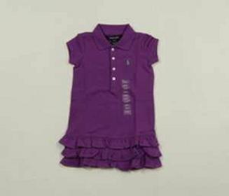 Ralph Lauren Fioletowa sukienka polo 4T